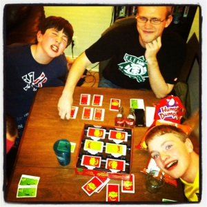 late night Apples to Apples starring: Uncle Ben