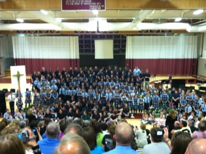 Colby's spring concert. Look for the tall blondie.