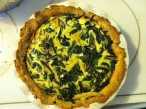 Chard pie with savory herb crust