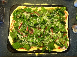 chard pizza for supper - but what for dessert?
