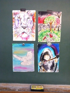 student artwork inspired by The Dovekeepers